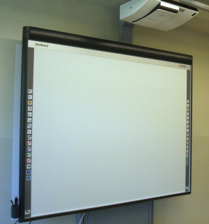 Installation Whiteboard an der Lobdeburg Schule in Jena