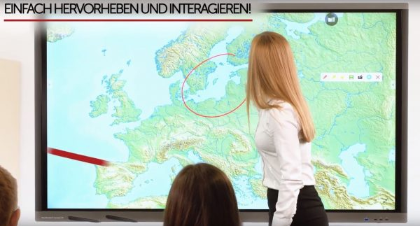 Avtek interaktive Touch Bildschirme und Whiteboards